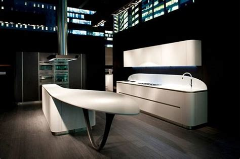 futuristic kitchen design rounded kitchen design by snaidero biting into the future 1145