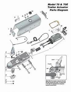 Model 70  U0026 70e Trailer Actuator Parts Diagram