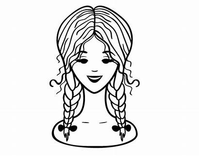 Coloring Braids Pages Hairstyle Colorear Coloringcrew Printable