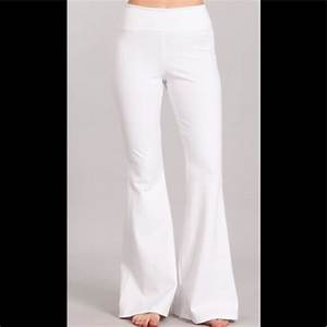 Chatoyant Pants Jumpsuits Pull On Bell Flair White