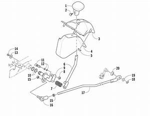 Reverse Shift Lever Assembly  U0434 U043b U044f 500 Fis Manual Arctic Cat