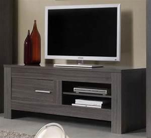 Meuble Tele Haut : photo meuble tv haut gris ~ Teatrodelosmanantiales.com Idées de Décoration