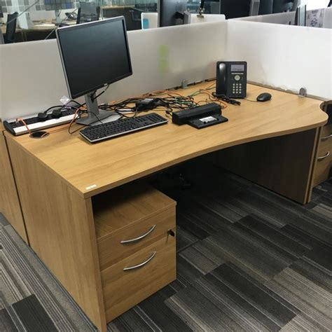 Office Desk Used by Used Stylish Wave Office Desks Brothers Office Furniture