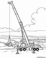 Crane Coloring Construction Pages Printable Truck Site Drawing Tower Ball Wrecking Cartoon Vehicles Trucks Cranes Colouring Vehicle Azcoloring Draw Drawings sketch template
