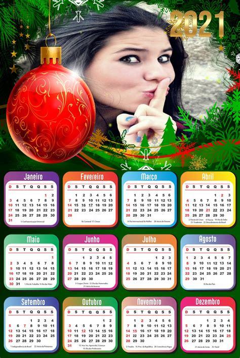 montagem de fotos calendario foto moldura calendario  enfeite de natal