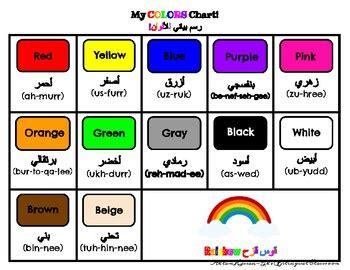 arabic english colors mat poster set tpt