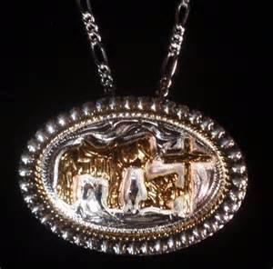 Praying Cowboy Cross Necklace