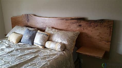 custom  edge white oak headboard  built