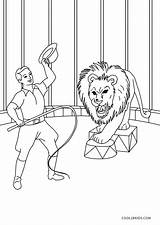 Circus Coloring Pages Ringmaster Printable sketch template