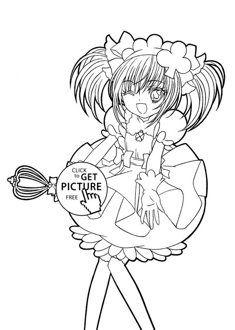 Shugo Chara Funny Anime Coloring Pages For Kids Printable