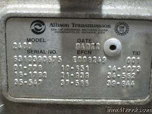 Sell 2004 Allison 2400 Automatic Pto Gear Transmission Gmc