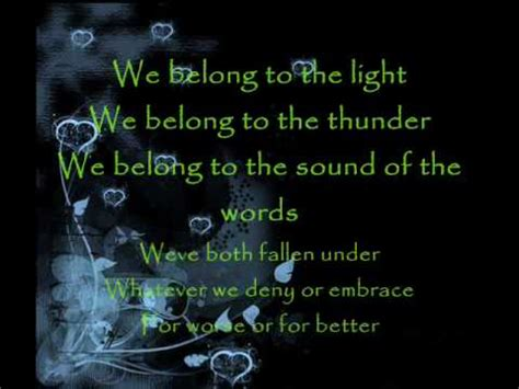 pat benatar songs lyrics we belong lyrics