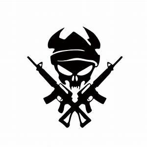 2018 Personality Viking Skull With Gun Shooting Car Stying ...