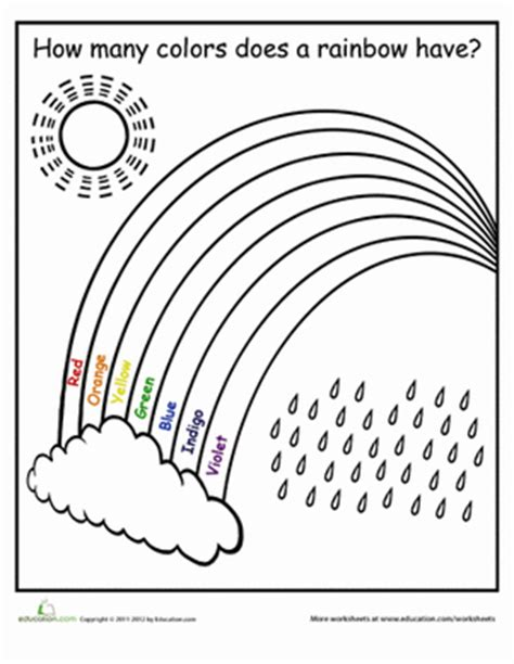 How Many Colors In A Rainbow?  Worksheet Educationcom