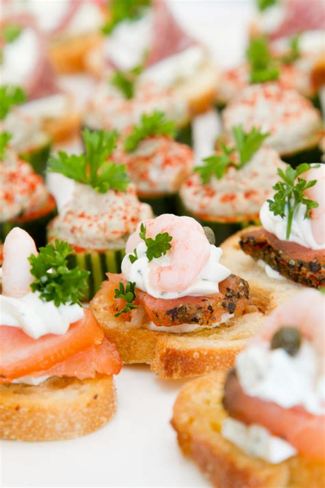 baked canapes smoked salmon canapes appetizers