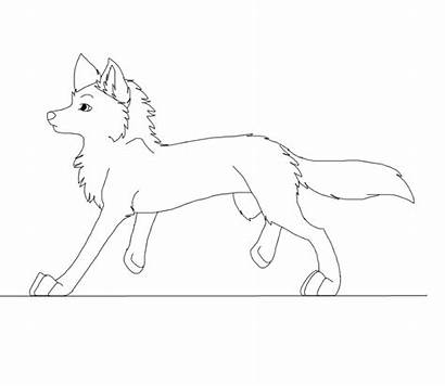 Cycle Walk Wolf Lineart Animated Reference Gifs