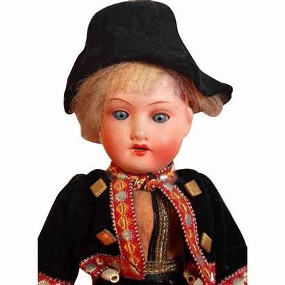 Doll German Boy Antique Bisque Tall Marked