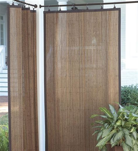 outdoor bamboo curtain panel 40 porch pinterest
