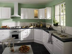cuisine de chez leroy merlin le catalogue 10 photos With cuisine verte et blanche
