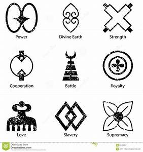 African Adinkra Symbol Icon Set Stock Vector - Image: 58492657
