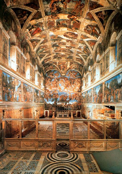 Painted The Ceiling Of The Sistine Chapel In Rome by Vatican Fits Sensors To Preserve Priceless Sistine Chapel