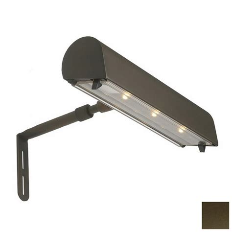 lowes led workshop light shop dals lighting weathered bronze led battery picture