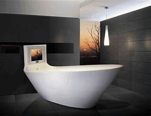 bathroom gadgets karim rashid designed tv bathtub cool With cool bathroom gadgets