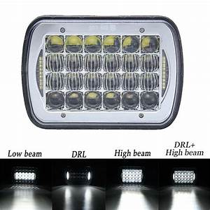 Dot Approved 5x7 U0026quot  7x6 U0026quot  Led Headlights Replacement For Jeep