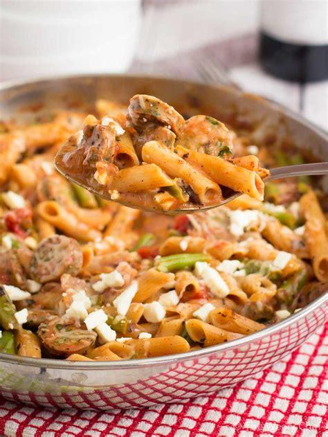 and easy italian pasta recipes easy italian sausage pasta skillet recipe recipelion com