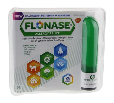 Flonase Allergy Relief Nasal Spray 60 Metered Sprays | Hy ...
