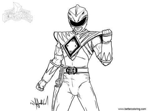 mighty morphin power rangers coloring pages fan art