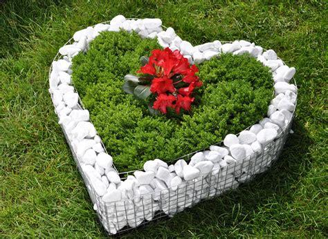 Winterharte Gartendeko by Korb Herz Deko Garten Schale Grab Pflanzen 220 Bertopf Blumen