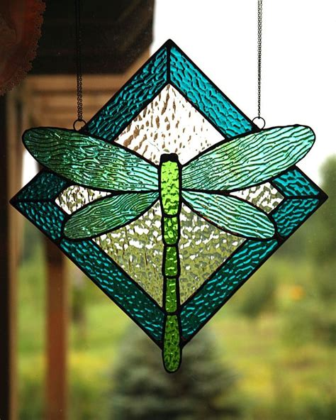 Simple Dragonfly Stained Glass Pattern Stained Glass