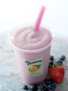 Panera Bread Strawberry Smoothie