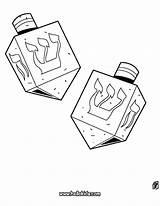 Dreidel Coloring Hanukkah Pages Printable Drawing Play Hellokids Games sketch template