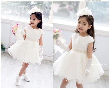 Luxury Children Dress White Princess Skirt Flower Girl