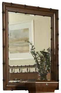 Summer Home Bamboo Mirror  Tropical  Mirrors By