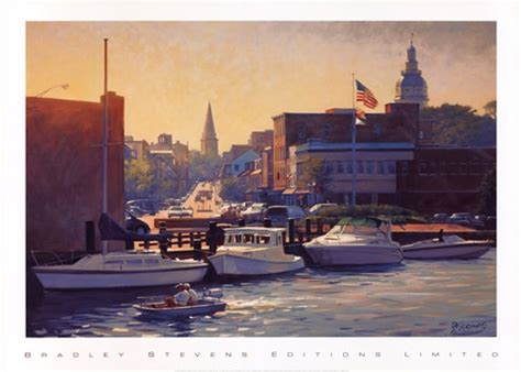Annapolis Boat Canvas by Annapolis Afternoon Print By Bradley At