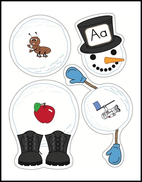 seasonal january winter  snowman preschool