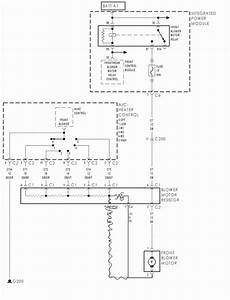 2001 Dodge Durango Blower Motor Resistor Diagram  2001