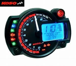 Koso Rx2n Multi Function Motorcycle Digital Clock Dashboard