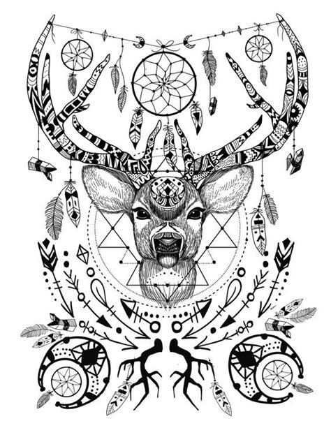 Wild and free spirit animals - printable color page and crystal grid. Adult coloring books, art