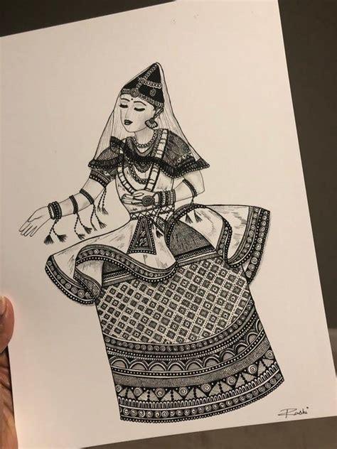 manipuri dancer art print etsy dancers art mandala