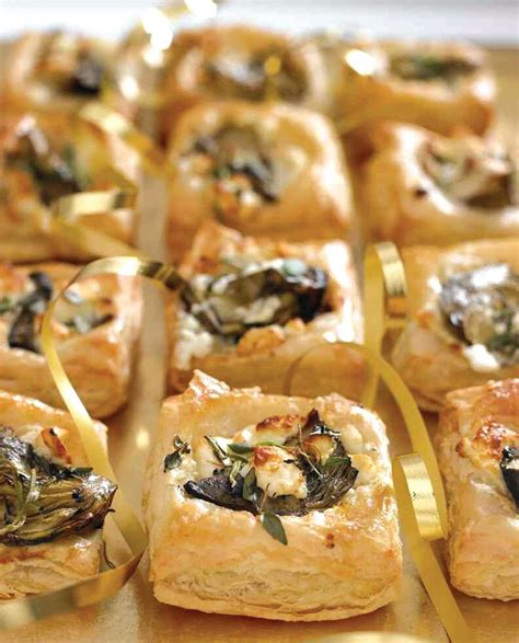 pastry canapes recipes feta and artichoke canapes vegetarian recipe