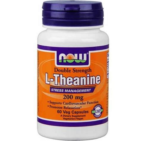 L Theanine Before Bed by L Theanine 200mg 60 Veg Caps Now Foods