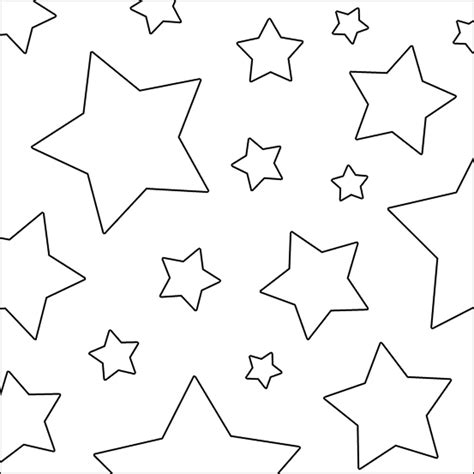 size stars coloring coloring pages
