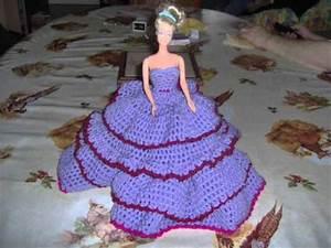 video de mes robes de poupees barbiewmv youtube With robe de barbie au crochet avec explication en francais