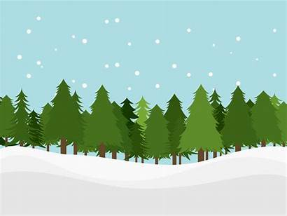 Forest Snow Cartoon Background Tree Trees Clipart