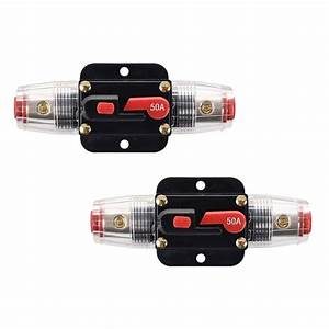 Car Automobiles Dc 12v 50 Amp Audio Stereo Circuit Breaker