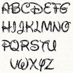 printable alphabet disney font template pattern in pdf for immediate disney